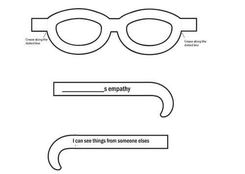 Empathy Glasses by hanaprice Teaching Resources TES – Empathy Worksheets