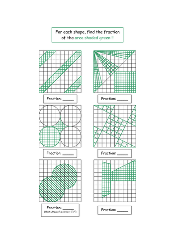 Fraction Shapes By Smeths Teaching Resources