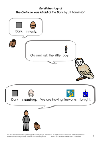 The Owl who was Afraid of the Dark - simplified