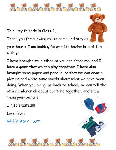Taking The Class Teddy Bear Home By Shazzypops Teaching