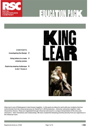 letters in king lear