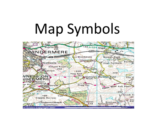 Map Symbols Powerpoint By Purplejoanie Teaching Resources Tes