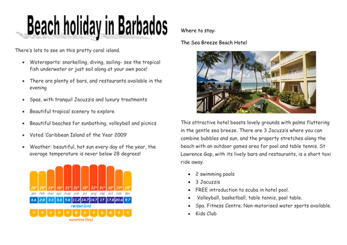 Holiday persuasive writing by asm502 teaching resources for Travel brochure template ks2