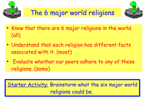 Major World Religions By Anon Teaching Resources Tes - 6 major religions