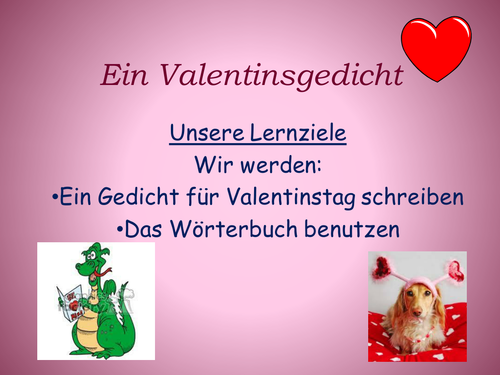 German logic puzzle for Valentines day by clairewillsmum – German Valentines Day Cards