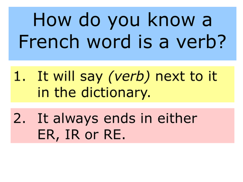 Perfect tense with avoir