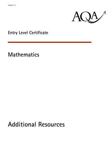 aqa elc maths resources  ks pdf worksheet by aqamathematics  aqa elc maths resources  ks pdf worksheet by aqamathematics  teaching  resources  tes