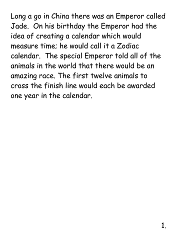zodiac chinese new year story by estelle37 teaching resources tes - Chinese New Year Story