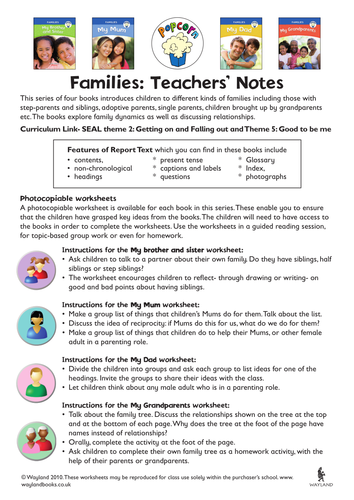 Families and relationships by wayland teaching resources tes ibookread PDF