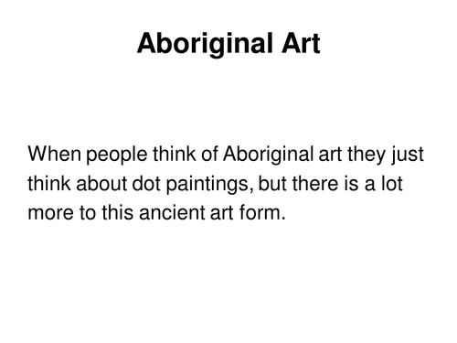 Aboriginal art powerpoint by ptaylor teaching resources tes recommended resources aboriginal art toneelgroepblik Image collections