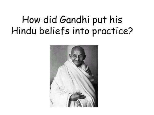 Gandhi Lesson By Ngriffiths Teaching Resources Tes - Gandhi religion