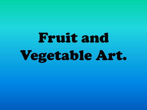 Fruit and Vegetable art / Harvest festival.