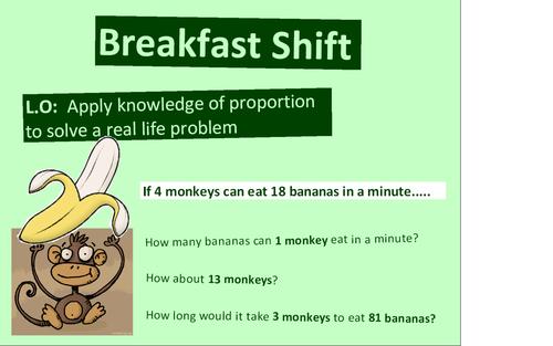 Breakfast Shift Inverse Proportion Ks3ks4 By Nyimadrayang