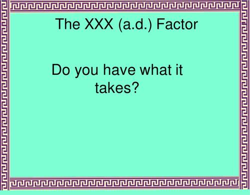 The XXX AD Factor  - Romans in Palestine