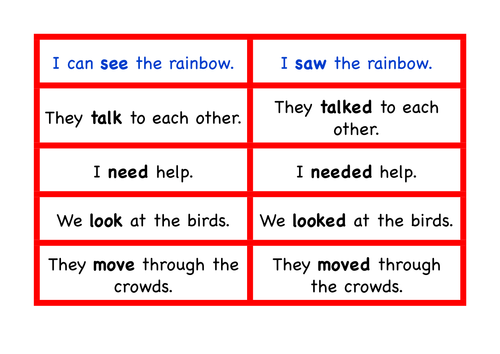Past And Present Tense Small Group Activity By Flissiti