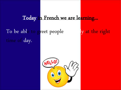 Basic french greetings by andsj teaching resources tes french greetings m4hsunfo