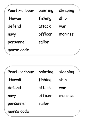 Worksheets For The Pearl : Pearl harbour by phammerton teaching resources tes
