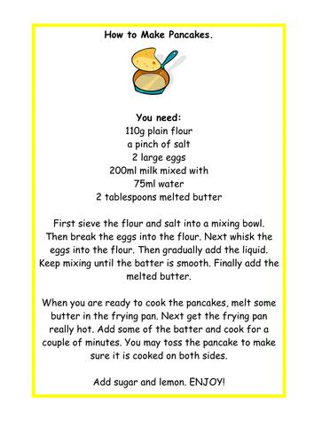 Shrove Tuesday / Pancake Day Teaching Resources