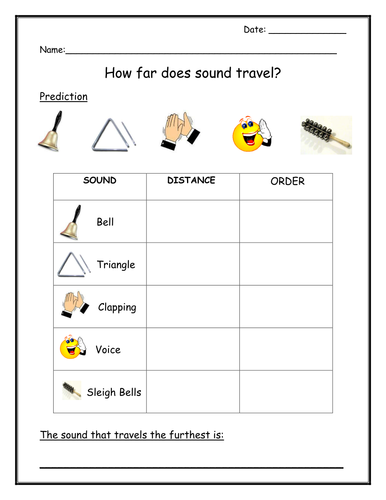 how far does sound travel by ljthorpe teaching resources tes. Black Bedroom Furniture Sets. Home Design Ideas