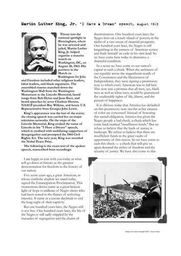 martin luther king i have a dream speech essay