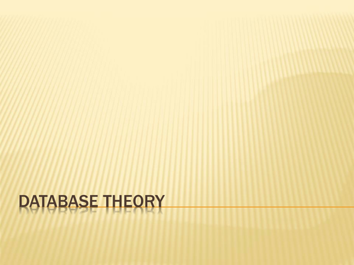 Database Revision for GCSE
