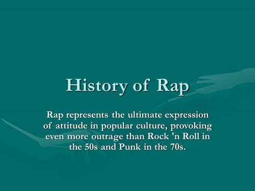 development of musical genres-Rap