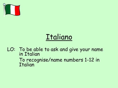 Italian numbers 1_12