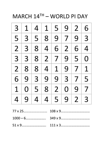 Pi Number Search