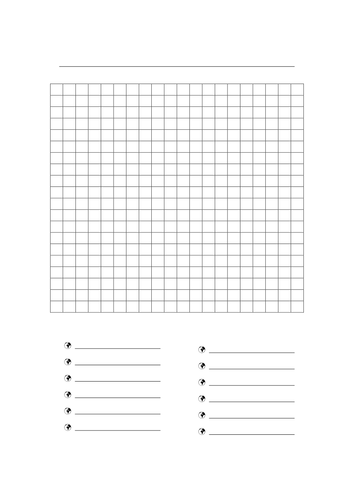 Enterprising image in blank word search printable