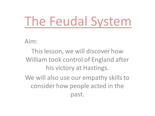 The Feudal System by LOLEAN Teaching Resources Tes – Feudalism Worksheet