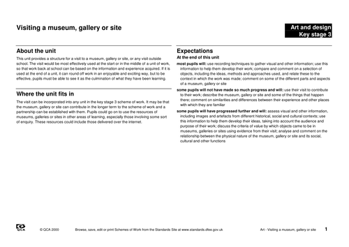 Unit 10: Visiting a museum: Why are we visiting?