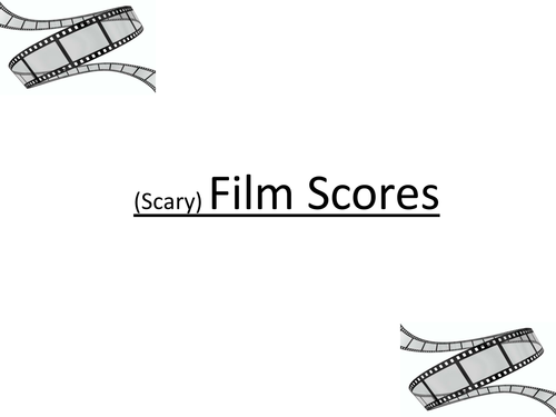 Scary Film Score full PPT