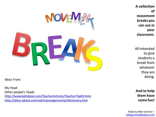 Movement Breaks