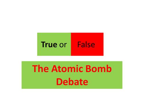 Atomic Bomb Debate