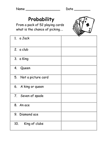 Probability Worksheets Easy By Kicha Teaching Resources