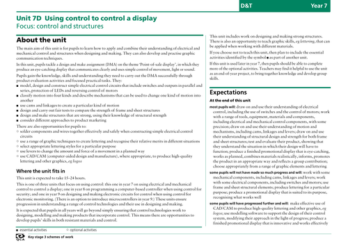 Unit 7d: Control and structures: Product Eval 4