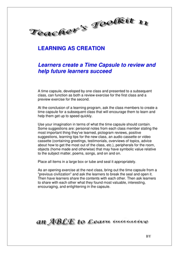 Linking and reviewing the learning