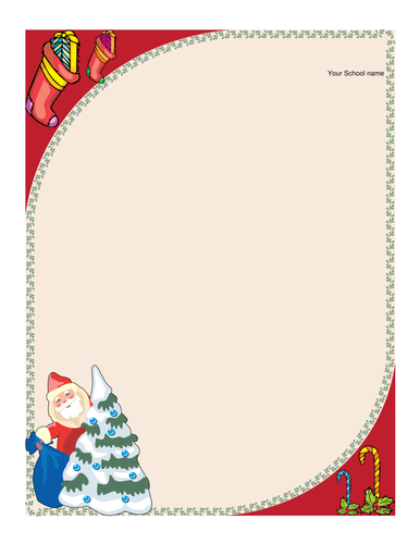 Christmas letterheads