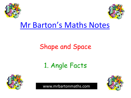Notes - Shape & Space - 1. Angle Facts.Powerpoint