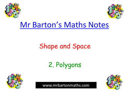 Notes - Shape & Space - 2. Polygons.Powerpoint.