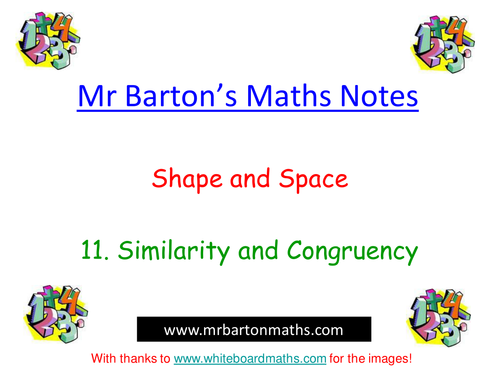 Notes - Shape & Space - 11.Similarity & Congruency