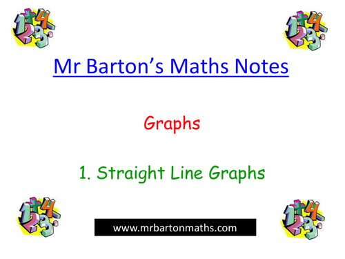 Notes - Graphs -Straight Line Graphs. Powerpoint.