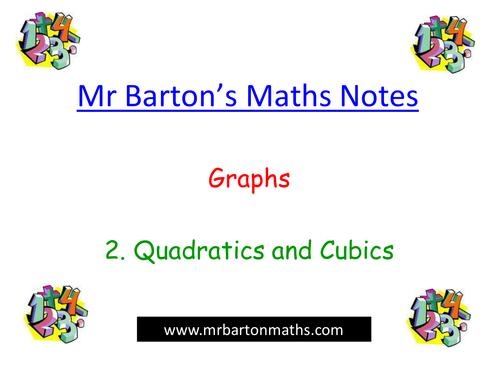 Notes - Graphs - 2.Quadratics & Cubics. Powerpoint