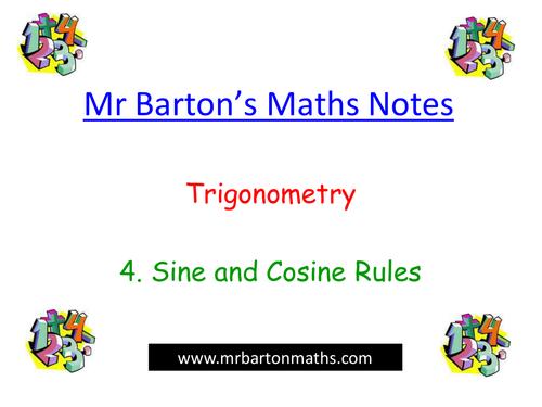 Powerpoint Notes-Trigonometry-Sine & Cosine Rules