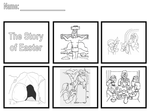 The Easter Story Sequence the story by SaintAnnes Teaching – Story Sequencing Worksheets for Kindergarten