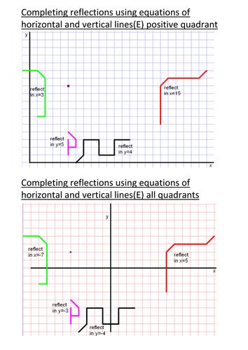 Reflection Puzzle Using Horizontal & Lines