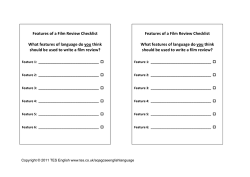 Film Review Filmic Techniques Worksheet Table by TesEnglish – Film Analysis Worksheet