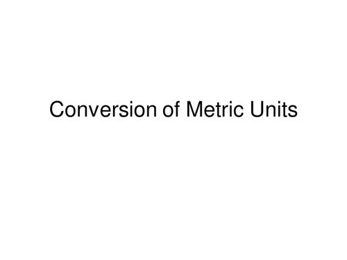 Convert Metric Units Length By Danadockaglory Teaching Resources
