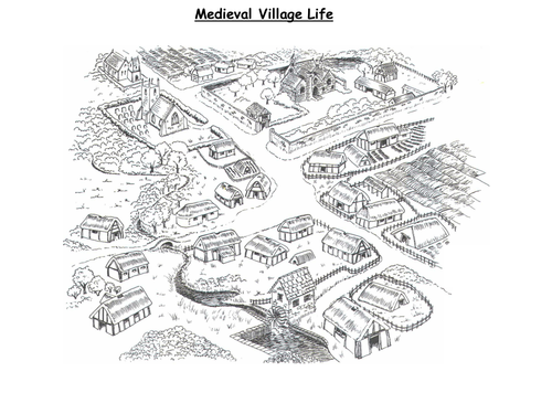 Medieval Village life dh by ChulmleighCommunityCollege