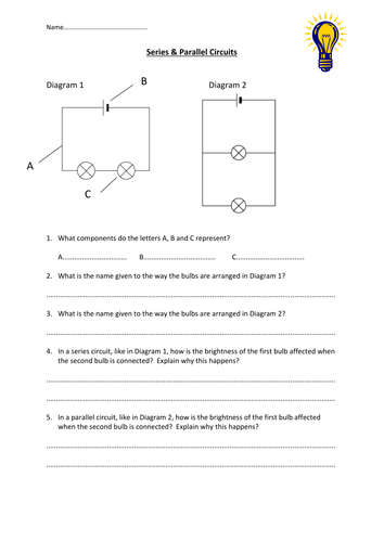 Series & parallel circuits worksheet by edp10ch - Teaching ...